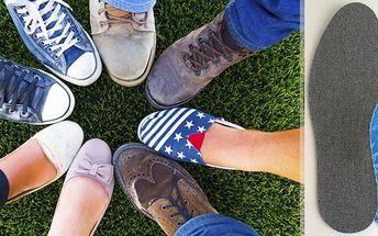 Antibakteriální protizápachové vložky do obuvi, mírná podpora podélné nožní klenby včetně poštovného. Měkký latexový výlisek mírně podepírá podélnou nožní klenbu. Stélka se používá kprevenci a nedostatečném tvarování vobuvi.