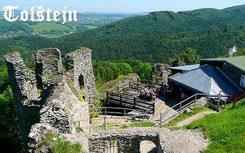 3 noci s polopenzí ve zřícenině hradu Tolštejn v Českém Švýcarsku pro dva