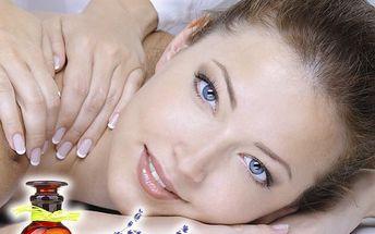 Skořicová nebo levandulová masáž šíje, zad, ramen a plosek nohou v salonu Miruš v Plzni.