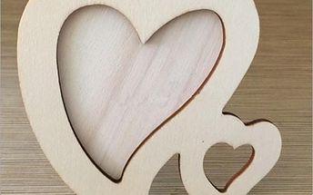Romantický rámeček v podobě srdce