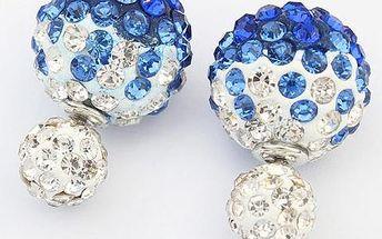 Kulovité náušnice s barevnými kamínky
