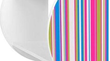 Dětská barevná police s motivem proužků