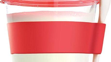 Svačinový kelímek Yo2GO, nová edice, červený