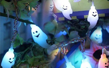 Halloweenský LED řetěz s duchy
