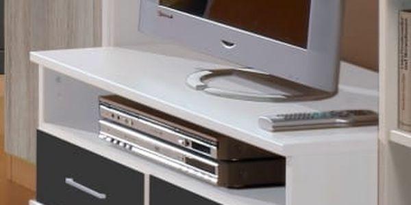 Joker - TV stolek (bílá, antracit)