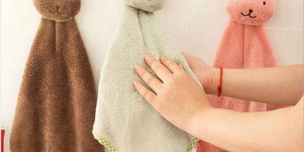 Dětský ručníček s králíčkem - 4 barvy