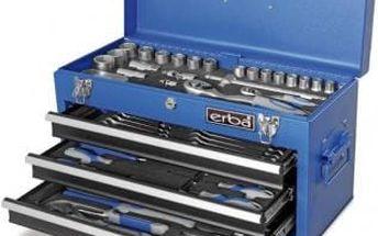 Sada nářadí v kovovém kufru 116 ks ERBA ER-03178