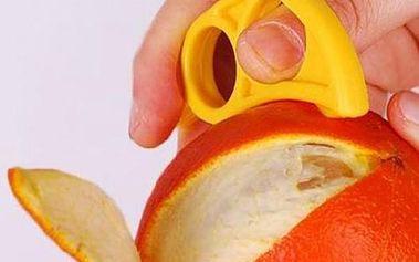 Praktická pomůcka na loupání citrusů - modrá - dodání do 2 dnů
