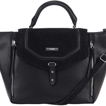 Černá kabelka se zipy s.Oliver