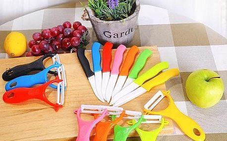 Keramický nůž + kuchyňská škrabka