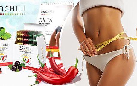 3D chili tablety pro podporu hubnutí - 1, 2 nebo 3 balení + elektronický dietní jídelníček