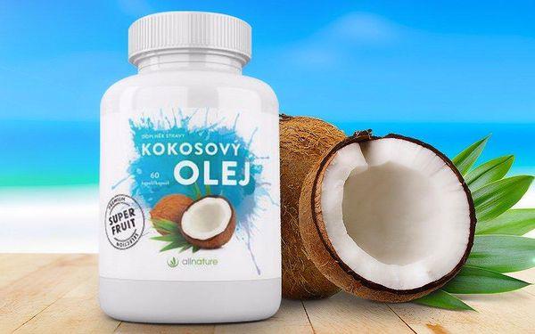 Kokosový olej Allnature v 60 kapslích
