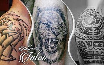 Profesionální tetování rpo zrkášlení těla o rozměru 10 x 15 cm v Adrenalin Tattoo, Praha 7