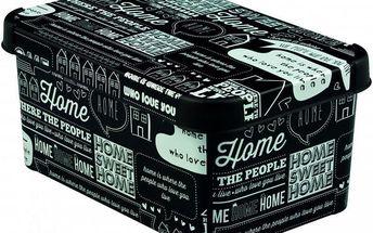 Plastový úložný box DECO - S - TYPOGRAPHY CURVER