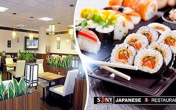 32ks japonský sushi set pro 2-3 osoby + sushi salát, wasabi, sojová omáčka a další, Opava