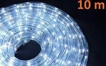 LED světelný kabel 10 m - studená bílá, 240 diod