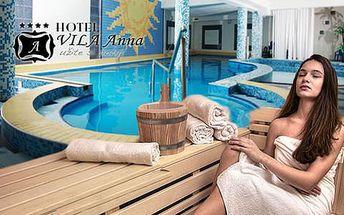 Pobyt v hotelu Vila Anna s neomezeným vstupem do bazénu a sauny, s polopenzí a parkováním