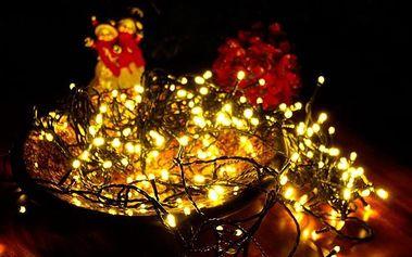 Vánoční LED osvětlení 30 m - teple bílé, 300 LED s časovačem