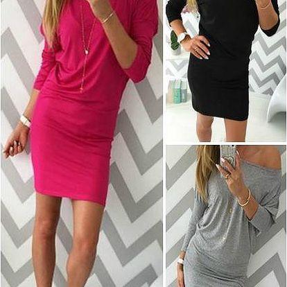 Jednobarevné dámské šaty Teri
