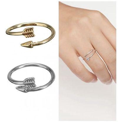 Nastavitelný prstýnek v podobě šípu