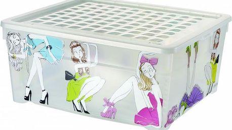 Úložný box s víkem 18,5L - PANENKY CURVER