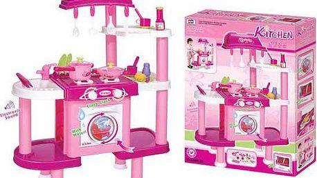 Dětská kuchyňka G21 s příslušenstvím růžová II.