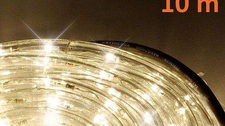 LED světelný kabel 10 m - teple bílá, 240 diod