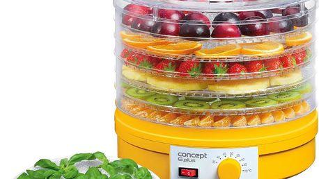 Elektrická sušička ovoce, zeleninu i hoby CONCEPT s regulací teploty a 6 síty