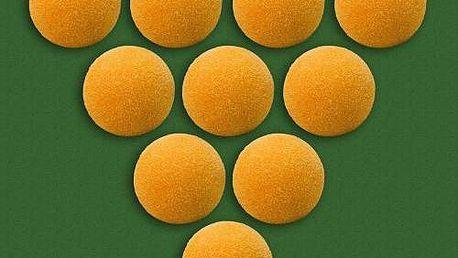 Míčky k fotbálku oranžové 10 ks 35 mm