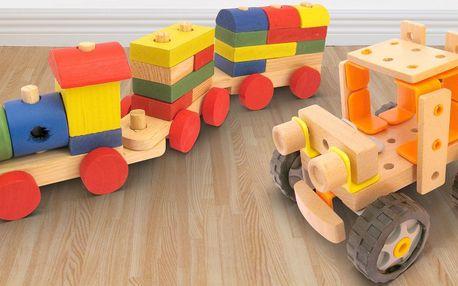 Variabilní dřevěné stavebnice pro hravá prťata