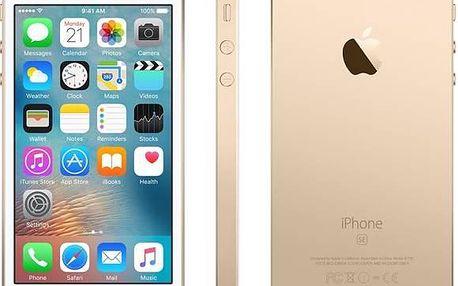 Mobilní telefon Apple iPhone SE 16 GB - Gold (MLXM2CS/A) Software F-Secure SAFE 6 měsíců pro 3 zařízení (zdarma) + Doprava zdarma