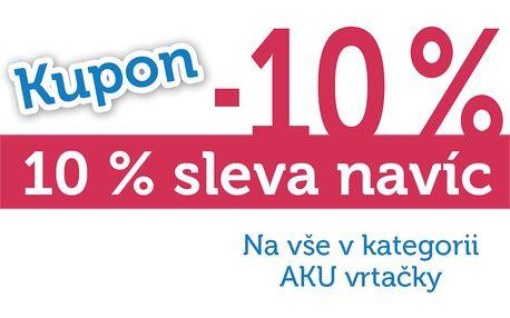 Extra sleva 10% na všechny aku vrtačky!