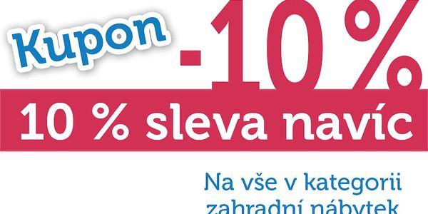 Extra sleva 10% na veškerý zahradní nábytek !
