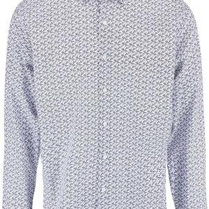 Bílo-modrá vzorovaná košile Seven Seas Blue Flower
