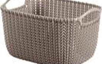 CURVER Košík obdélníkový Knit 8 l, hnědý