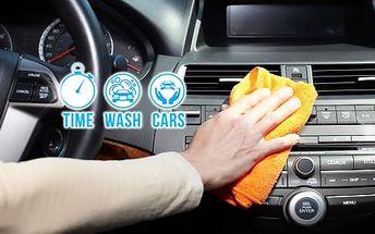 Kompletní ruční čištění vozu: interiér včetně tepování sedaček, kvalitní autokosmetika