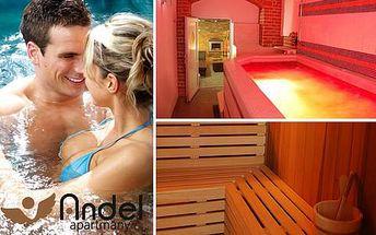 Nadstandardní privátní wellness s vířivkou a saunou v centru Prahy pro dva