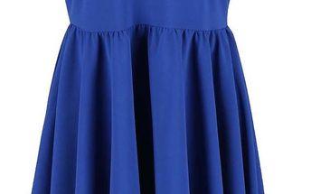 Modré šaty s dlouhým zadním dílem Alchymi Polaris