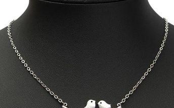 Vintage náhrdelník se dvěma ptáčky