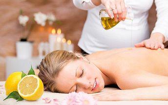 60minutová relaxační masáž citronovým olejem v salonu Bamizi v Ústí nad Labem