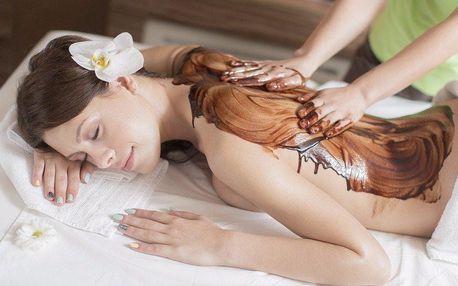 Čokoládová relaxační masáž s peelingem a zábalem