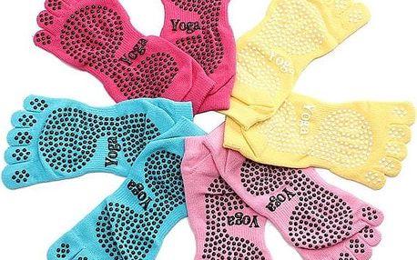 Protiskluzové ponožky na jógu ve více barvách