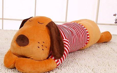 Velký polštářek pro děti - Spící pejsek - 70 cm - dodání do 2 dnů