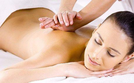 60minutová relaxační masáž zad a nohou zezadu