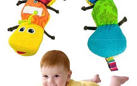 Barevná housenka pro děti - dodání do 2 dnů