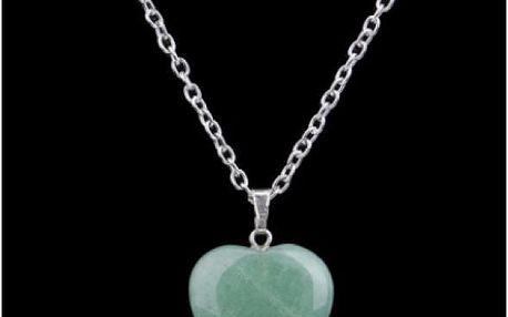 Náhrdelník s mohutným přívěskem v podobě srdce - poštovné zdarma