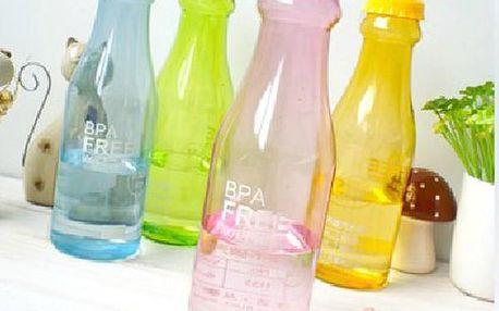 Plastová láhev na nápoje - originální design, 5 barev