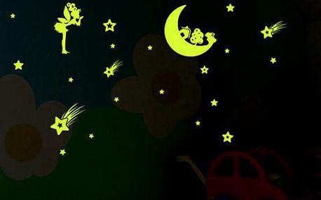 Svítící samolepky na zeď Noční obloha