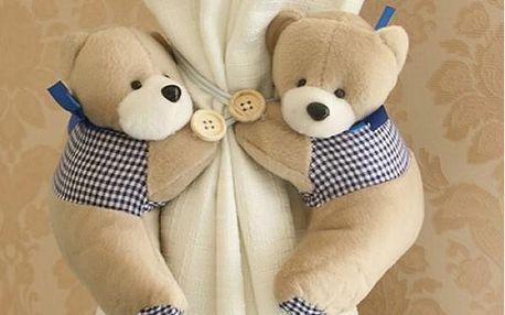 Ozdobné spony na závěsy Medvědi