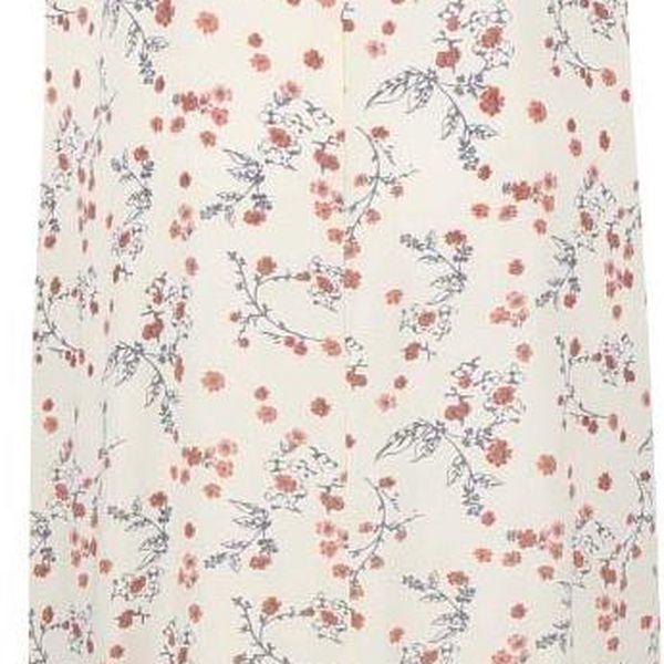 Světle žluté dlouhé květované šaty VILA Annie